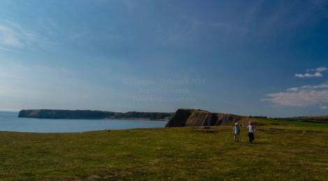 Randonnée sur la côte, à Tenby, Pembrokeshire