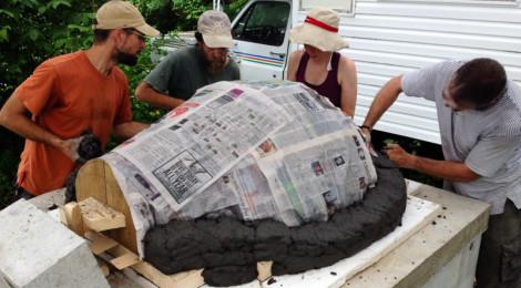 Construire un four à pain en argile